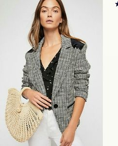 Free People Black Rodeo Blazer